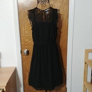 H&M Lace top sleeveless black dress